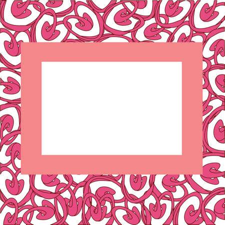 heart tone: Marco con corazones abstractos, ilustraci�n