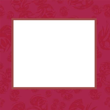 gentile: Frame in rose tones,illustration Illustration