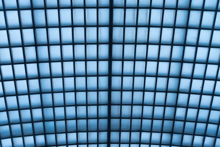 blue tone: Hall Roof in blue tone  building Stock Photo