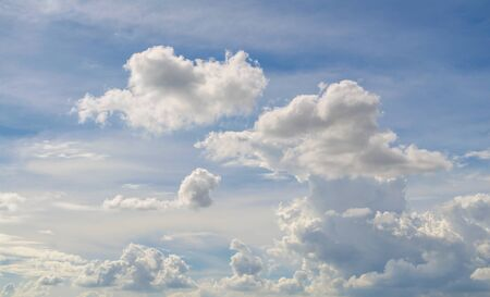 cumulus: Cloudy sky in afternoon   in summer Stock Photo