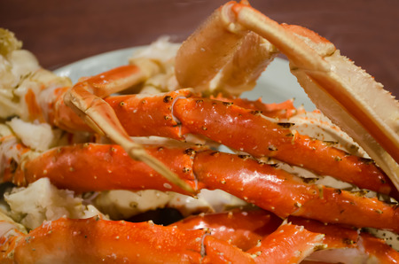 fine legs: Big Japanese giant crab  in  Sapporo city of Hokkaido,Japan