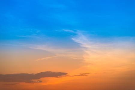purple sunset: Gradient orange and blue purple sunset sky