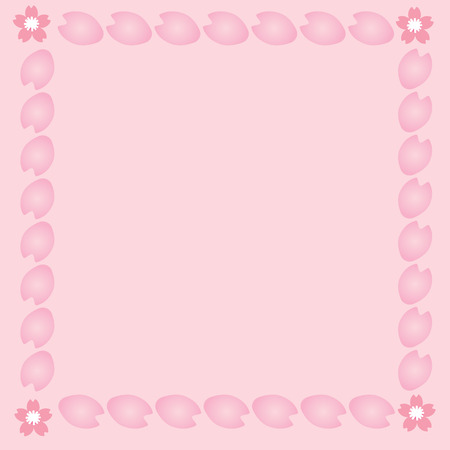 lobe: Pink background with cherryblossom lobe as a frame and flower you can put any thing on the space one