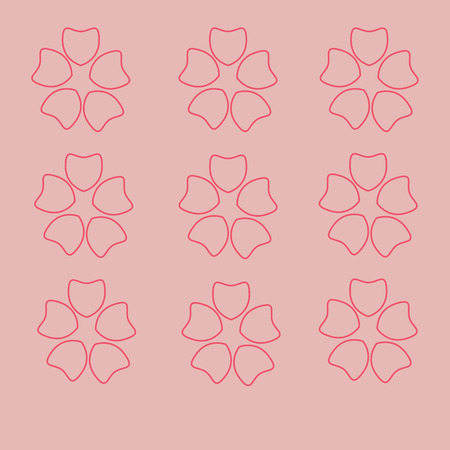 japanese garden: Seamless pink cherryblossom with  background  pattern  for spring Illustration