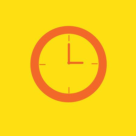 Horloge Icône Sur L\'après-midi Tonalité De Couleur Orange Isolé Sur ...