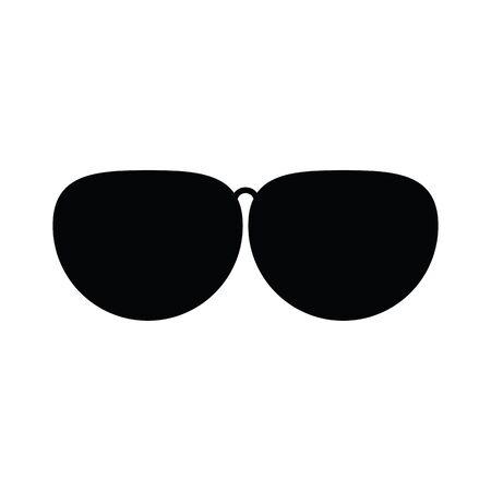 polarize: Black sunglasses vector flat icon isolated on white background