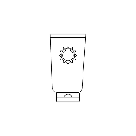 no color: Sunscreen with no color isolated on white background vector Illustration