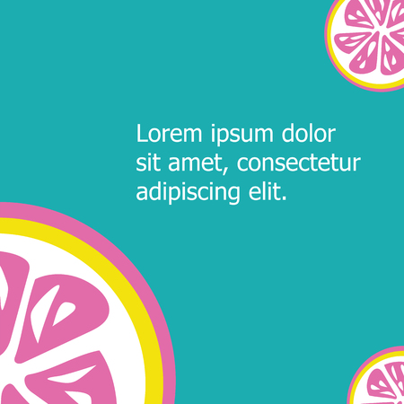 violette: Pink lemon isolated on cyan background with copy space Illustration
