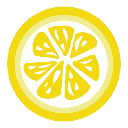 vecteur de tranche de citron jaune pour téléchargement isolé sur fond blanc