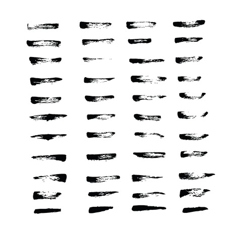 graphic art: Art brush grunge stroke style from ink 44 brushes set for use in graphic program for product promotion or background