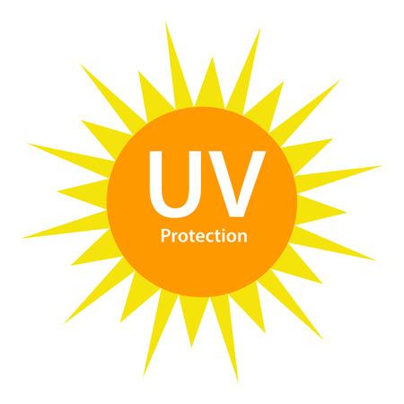uv: UV Protection with sun symbol Illustration