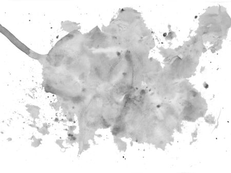 illus: Abstract painted ink and watercolor,color splatter for use in brushes or background for abstract creative work in many kind of pattern Stock Photo