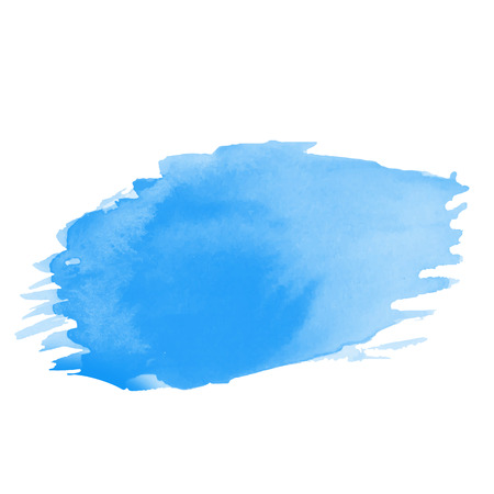 Blue Water color brushes  on paper art vector illustrations for using in art work abstract background