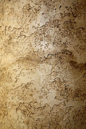 toughness: image of a highly textured interior wall