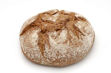 whitw: Bread over whitw background. flour of espelta. Stock Photo