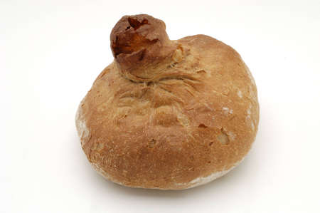 whitw: Bread over whitw background. Gallego .
