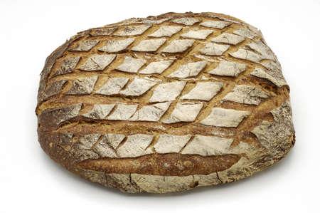 whitw: Bread over whitw background.  Stock Photo