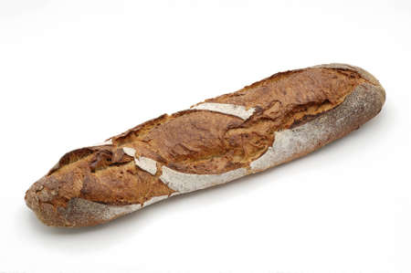 whitw: Bread over whitw background.  Stock Photo