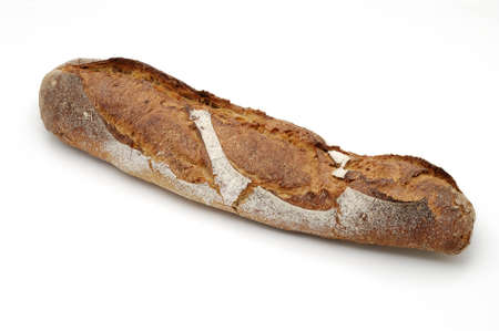whitw: Bread over whitw background.