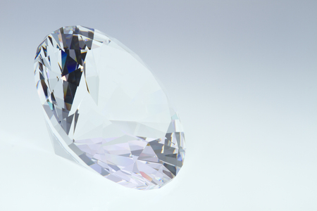 space for writing: crystal glass diamond with a free space for writing