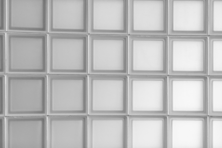 wall of square and translucent glass blocks