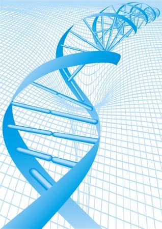 virus sida: ADN en espiral como fondo agradable ciencia