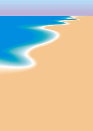 watery: the sea and the sandy beach as summer background