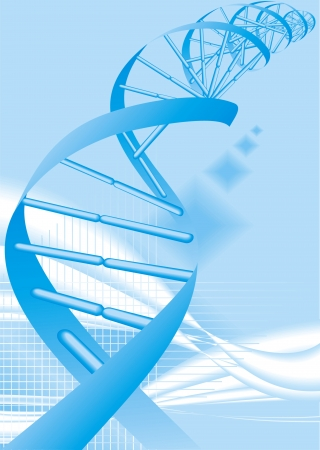 researchs: DNA spiral as nice science background