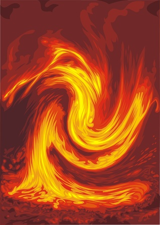 flickering: flickering glow of fire on the red background