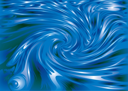illustrated abstract waves on the blue background Stock Vector - 18315606