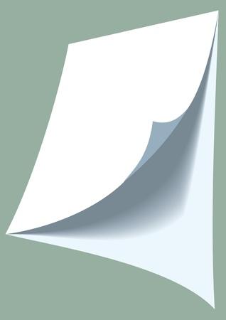 blank white paper on the light background Stock Vector - 18315612
