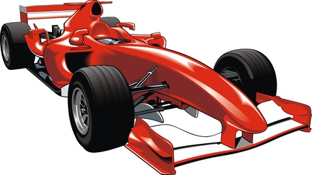 original red racing formula isolated on white background