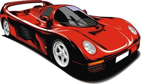 exotic car: original sport car isolated on white background Illustration