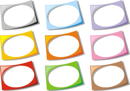 color empty frames collection isolated on white background  Stock Vector - 18580703