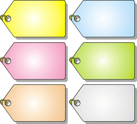 fine colored pendants isolated on white background Stock Vector - 18580278