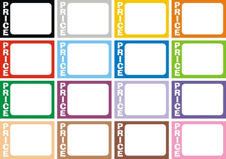 empty frames collection  isolated on white background Stock Vector - 18580699