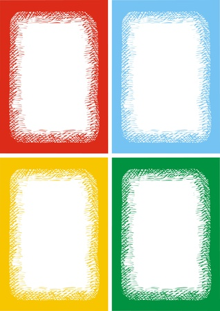 color empty frames collection isolated on white background  Stock Vector - 18580761