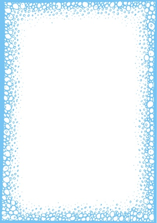 fine empty blue frame isolated on white background Stock Vector - 18580732