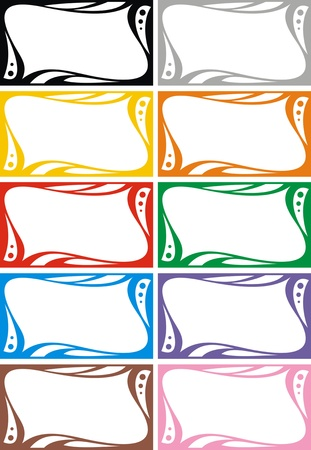 empty frames collection  isolated on white background Stock Vector - 18580499