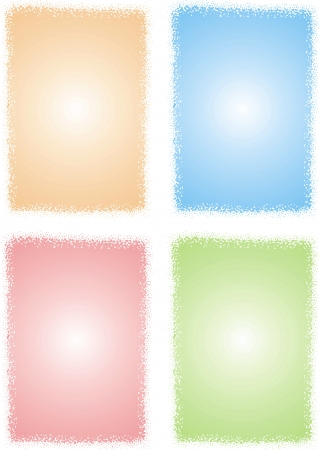 empty frames collection  isolated on white background Stock Vector - 18580763