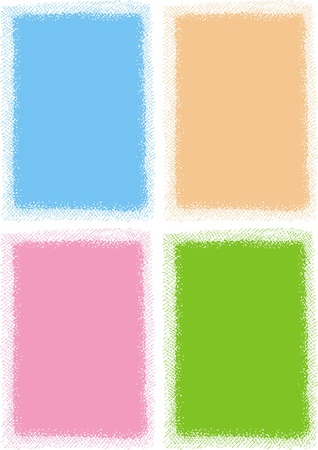 empty frames collection  isolated on white background Stock Vector - 18580779