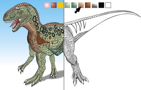 complemento: dinosaurio prehist�rico dise�ado para complementar los colores