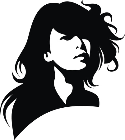 face of sexy women isolated on the white background  Vector