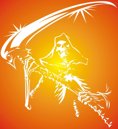 death symbol from my dream in white and orange colors Stock Vector - 18997819