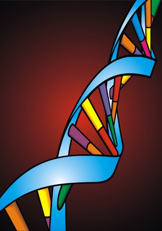 researchs: illustrated DNA spiral as nice science background