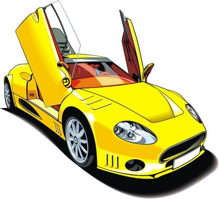 exotic car: my original sport car design isolated on white background Illustration