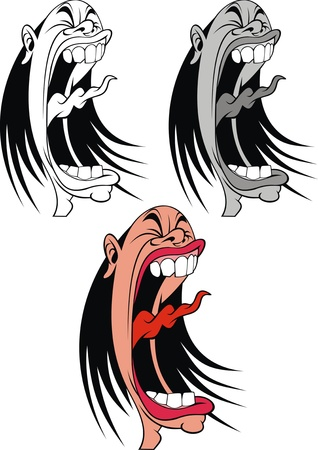 screaming woman or man in three versions Stock Vector - 19206953