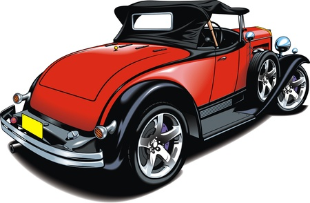 roadster: nice original car design on the white background