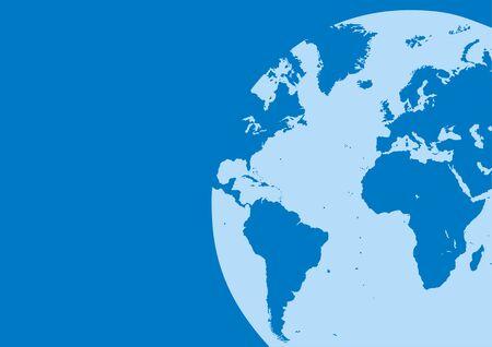 mooie achtergrond: wereldkaart in de blauwe kleur asi mooie achtergrond