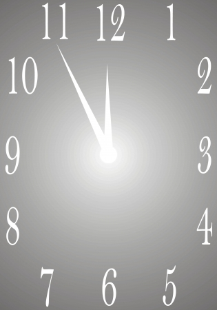 time clock background in the grey colors Stock Vector - 19316078